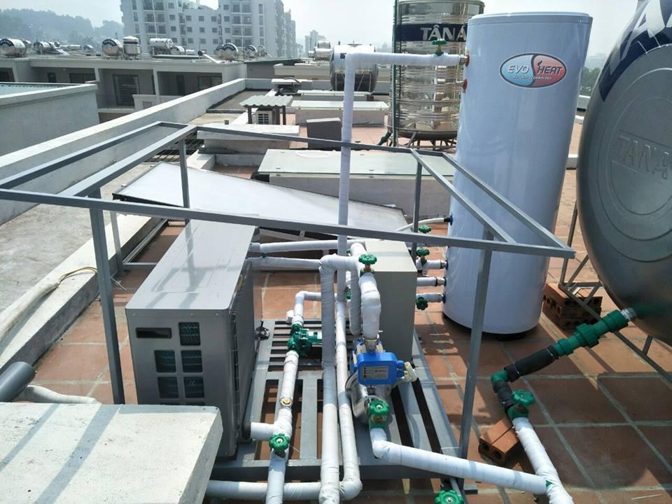 DIC thi công hệ thống nước nóng trung tâm Heatpump tại Hải Phòng