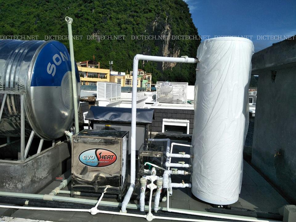 DIC triển khai dự án lắp đặt hệ thống nước nóng trung tâm Heatpump tại Quảng Ninh